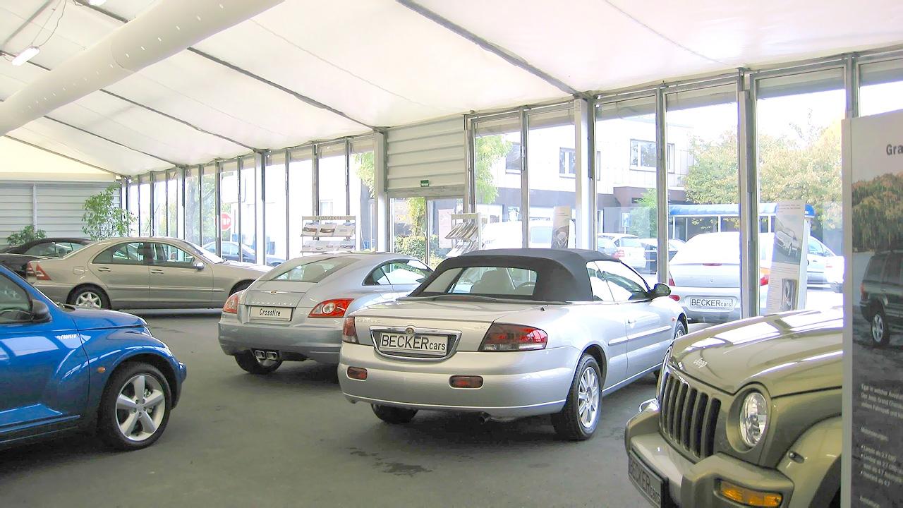 Verkaufszelt für Autos